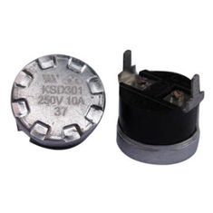 China KSD301 Boiler Bimetal Disc Thermostat 16A 250V With Quick Make / Quick Break Action supplier